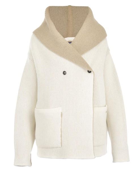 Woolrich cardigan cardigan wool white sweater
