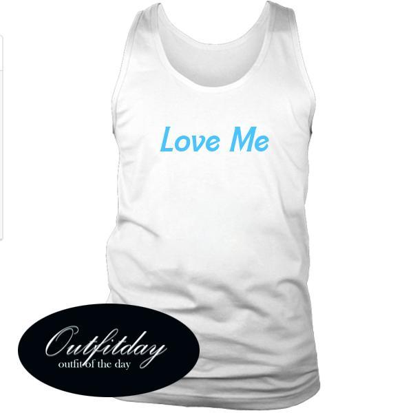 Love Me Font Tanktop