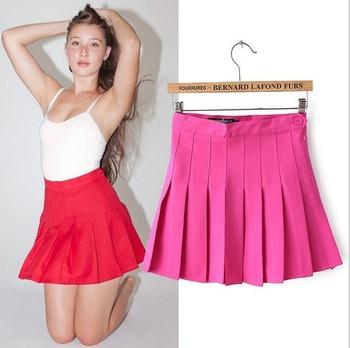 [ B7 2 ] женская юбки лето 2014 плиссированные юбки европейский и американский стиль конфеты цвет юбки высокая талия теннис юбки, принадлежащий категории Юбки и относящийся к Одежда и аксессуары для женщин на сайте AliExpress.com | Alibaba Group