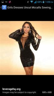 dress,little black dress,black,sparkle,sparkily,short,low cut,sheer,long sleeve dress