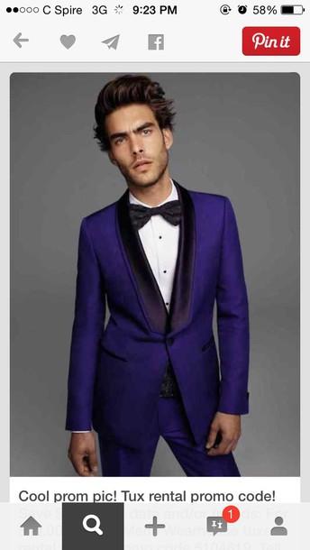 jacket mens jacket menswear mens suit royal blue prom prom menswear