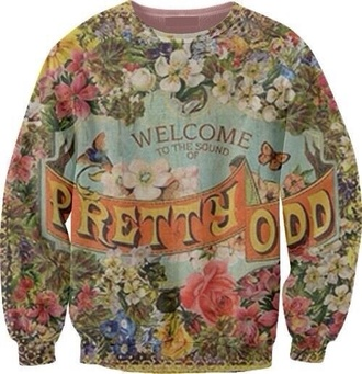 sweater panic! at the disco pretty odd album band bands tumblr brendon urie ryan ross dallon weekes jon walker spencer smith crewneck panic at the disco pretty.odd