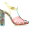 Sophia webster - pink rosa vinyl and printed satin sandals