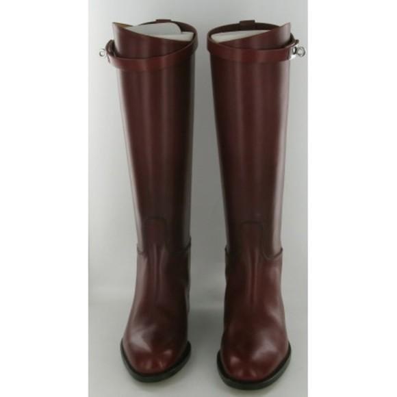 leather shoes cuir hermes boots bottes cavalière boots