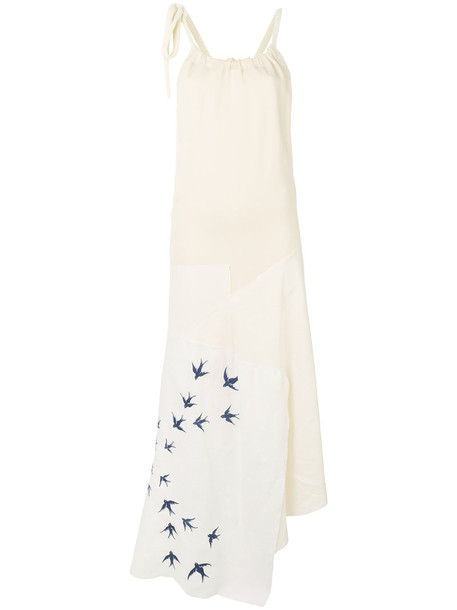 JW Anderson dress embroidered women spandex white