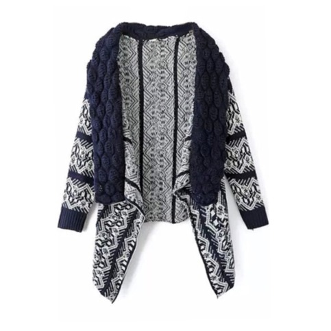 Aztec knit loose drape cardigan from doublelw on storenvy