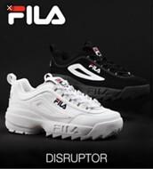 shoes,fila,fila sneakers,white,red,blue,fila disruptor