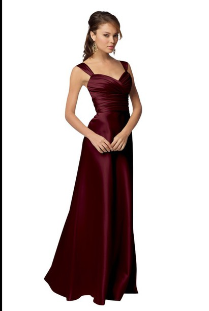 Sexy silk evening dress