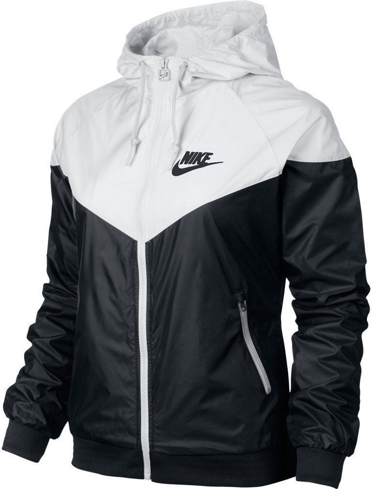 90ccc85cac7f Nike WindRunner Women s Jacket Windbreaker Hoodie Black White ...