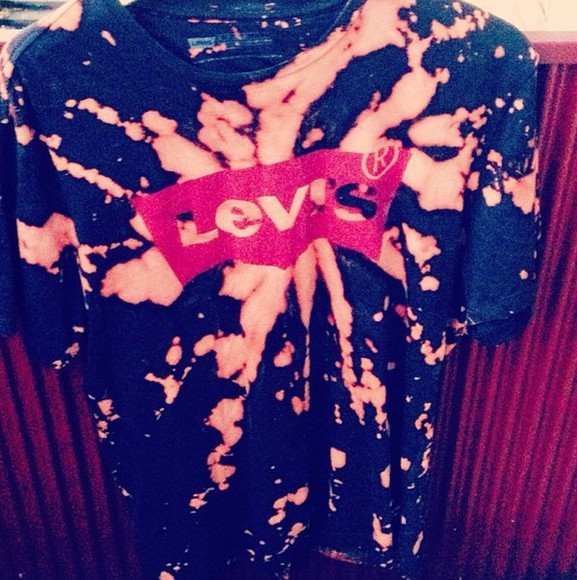 levis t-shirt bleach dye