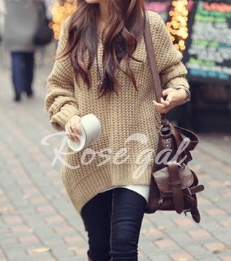 sweater top knitwear knitted cardigan knitted sweater creme beige fall outfits blogger lookbook fashion fall sweater autumn/winter hipster asian fashion cute