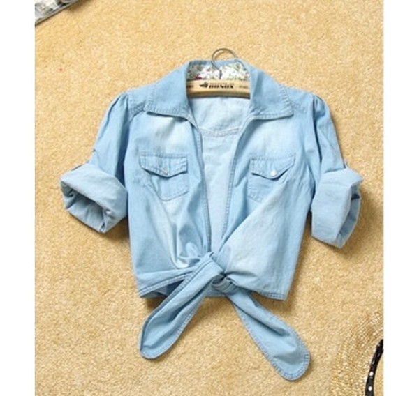 shirt blue denim