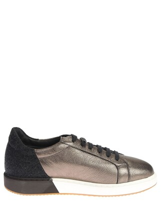 metallic sneakers leather shoes