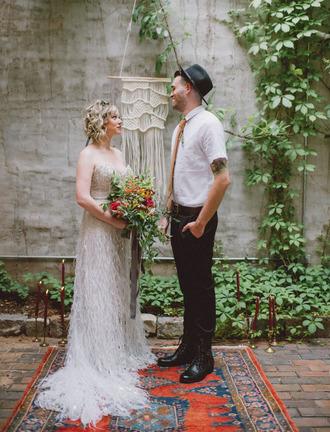 green wedding shoes blogger hipster wedding boho bustier dress hipster menswear mens fedora