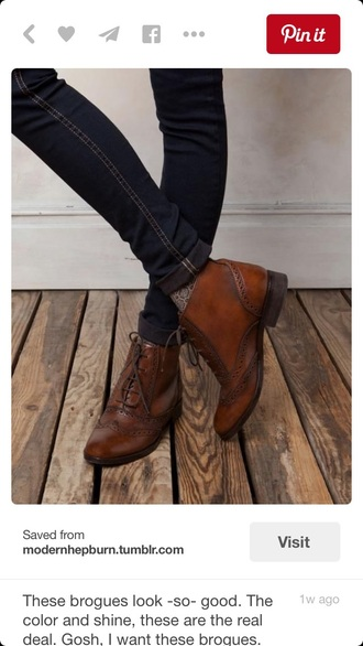 shoes brown booties leather brogues oxfords brown brogues boots