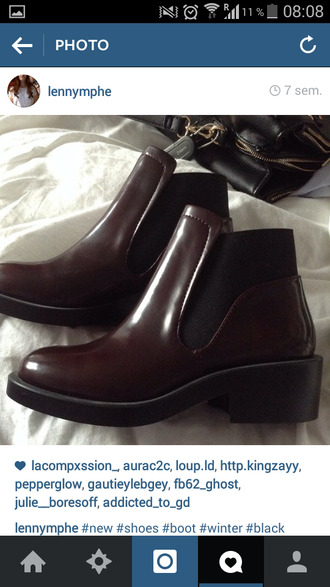 chaussures low boots burgundy