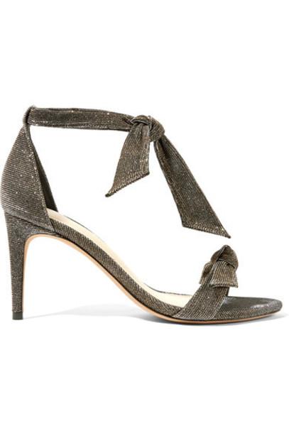 Alexandre Birman bow embellished sandals silver shoes