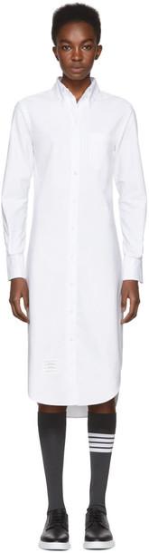 Thom Browne dress shirt dress classic white