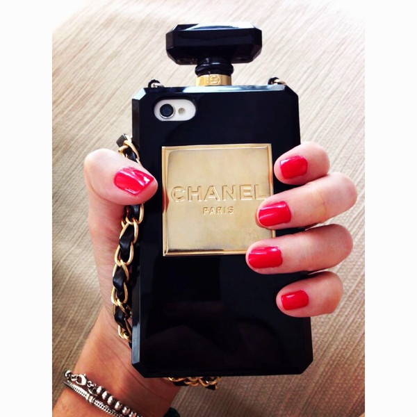 Cc perfume bottle clutch chain iphone case (many colors available) – glamzelle