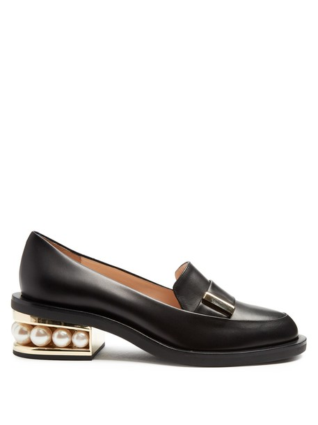 Nicholas Kirkwood pearl leather black shoes