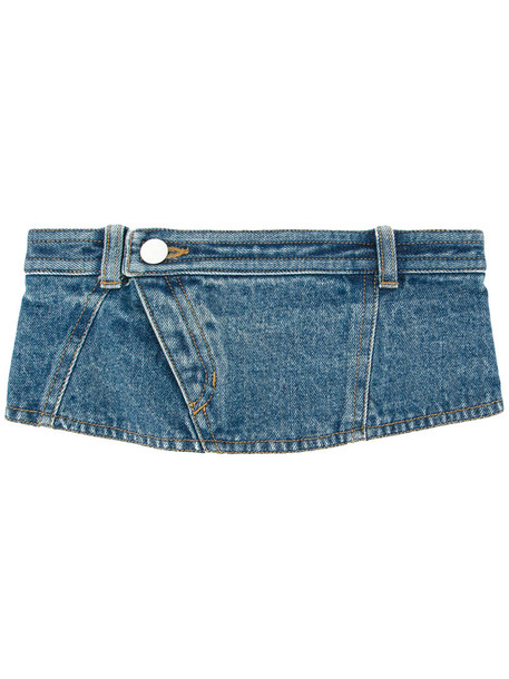 Aula denim women belt cotton blue