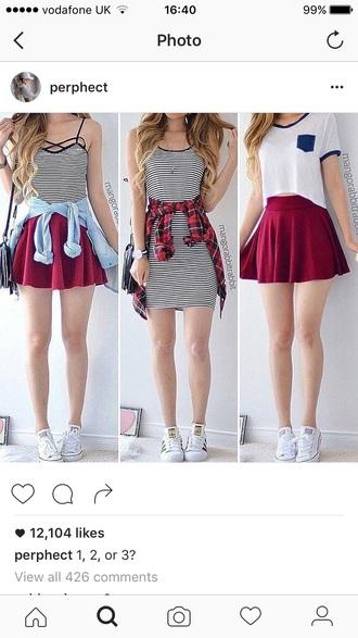 skirt red red skirt mini skirt mini