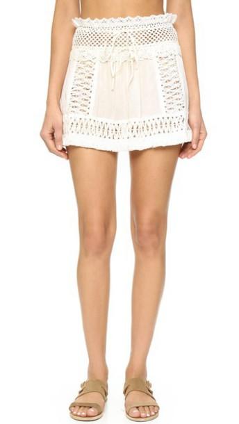 Sofia By Vix Crochet Skirt - White