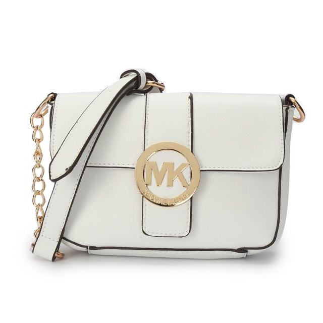df34e188e ... reduced michael kors crossbody bags fulton messenger small white 83c10  86d6a