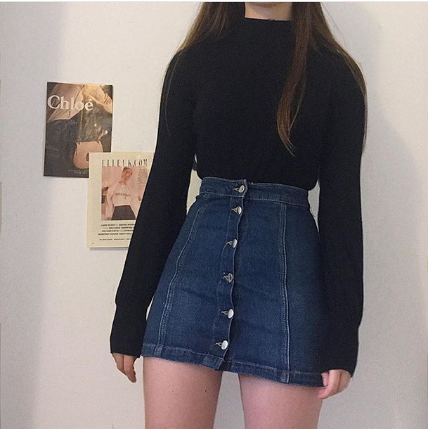 skirt denim mini skirt instagram cute blue button up denim skirt denim skirt forever 21 urban outfitters american apparel pacsun topshop