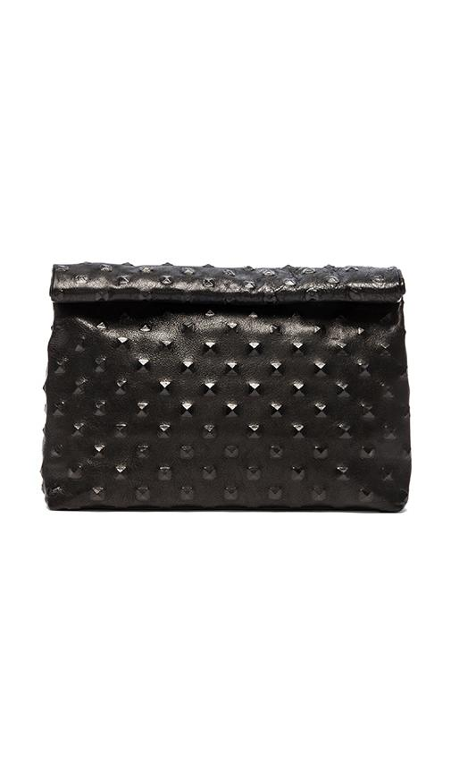 Marie turnor lunch pyramid clutch in black studs from revolveclothing.com