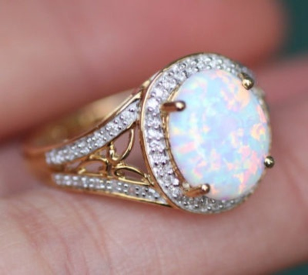 jewels ring pretty diamonds opal gold