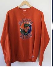 sweater,orange,sportswear,college,florida,gators,university,winter outfits,vintage,fall outfits,sweatshirt,florida gators