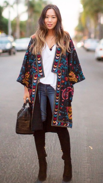 Cardigan kimono grunge oversized streetwear streetstyle boho boho chic hippie gypsy ...