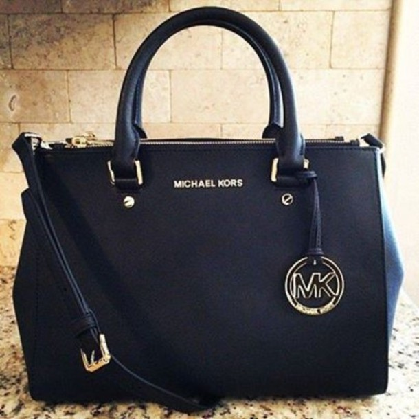 Bag: shoulder bag, black bag, handbag, michael kors bag, designer ...