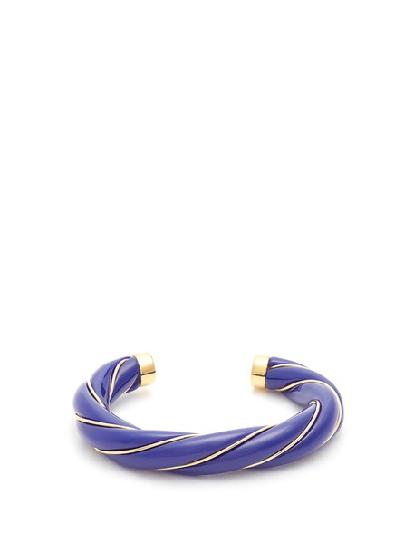 cuff gold blue jewels