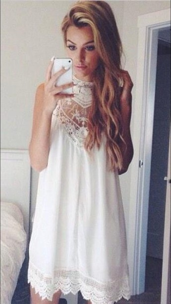 lace dress white dress boho dress dress cute dress dress chic lace