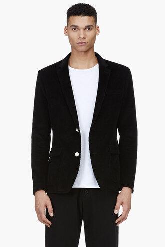 corduroy jacket menswear clothes outerwear black schoolboy blazer