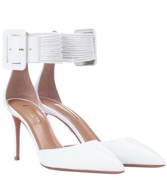 Aquazzura pumps leather white shoes