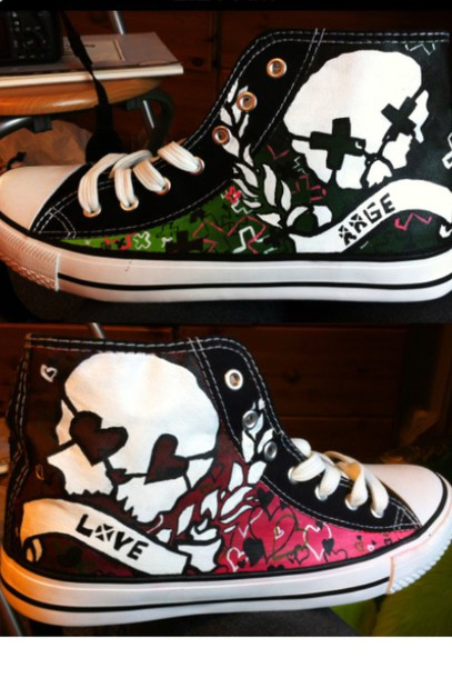 shoes green day chuck taylor all stars converse skull love dress