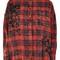 Washed red checked shirt - red
