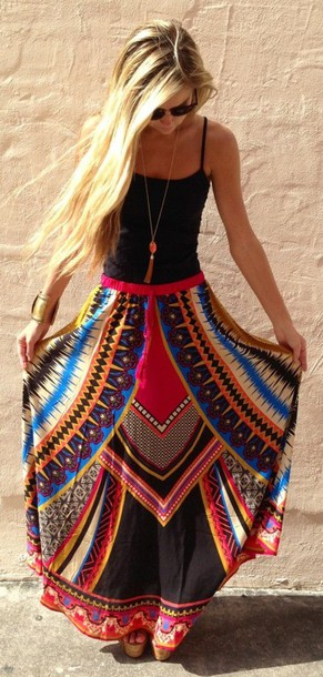 skirt boho bohemian hippie hippie fashon love outfit gypsy summer beach maxi skirt tribal pattern dress clothes maxi dress colorful tribe pattern red dress red red skirt maxi boho dress boho chic boho hippie dress fashion boho boho gypsy blue dress blue skirt aztec aztec skirts black skirt boho maxi skirt shirt skirt pinterest