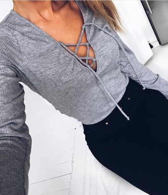 shirt grey grey shirt love beautiful summer spring outfits spring party outfits party cute express american eagle outfitters black womens black shorts boobs smile at your haters instagram weheartit