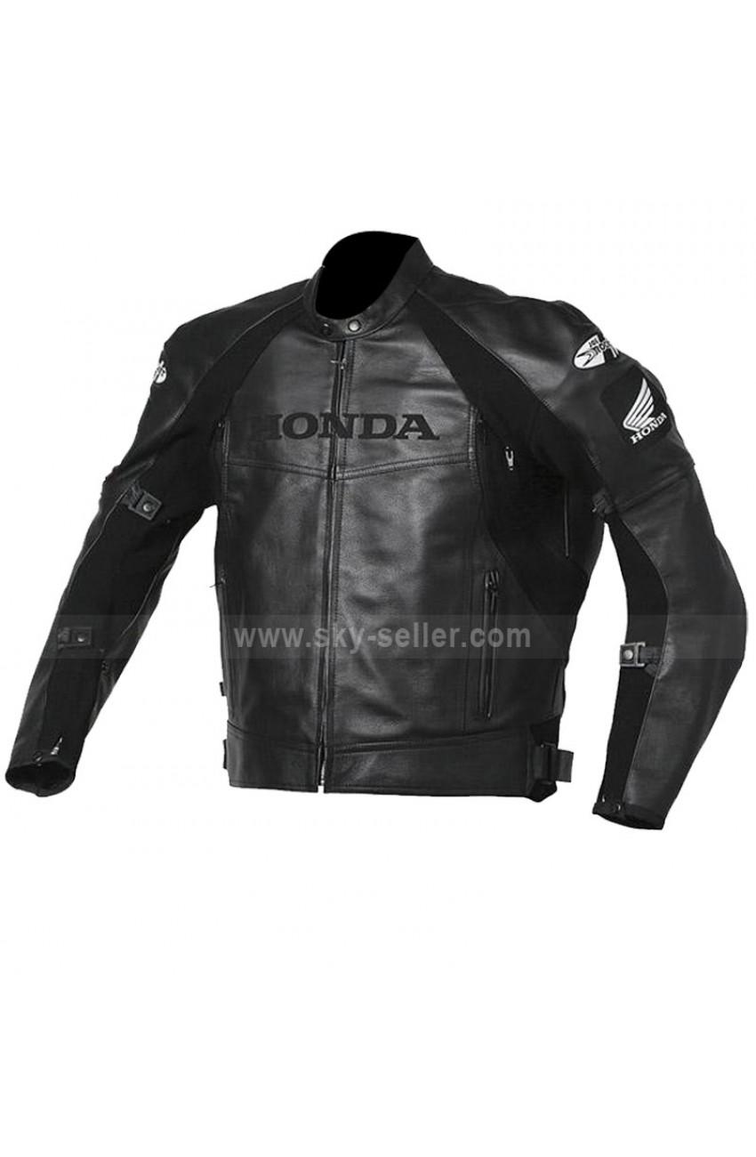 Joe Superhawk Honda Black Biker Leather Jacket