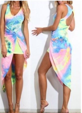 dress rainbow tie dye dress tie dye maxi dress rainbow dress maxi dress beach dress beach summer dress