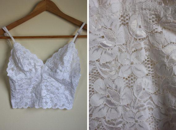 6c57760137251 Vintage White Lace Bralette by AletheaPeterson on Etsy