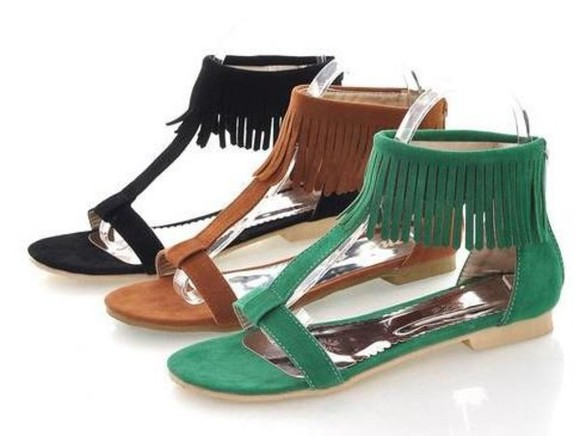 fringes shoes sandals