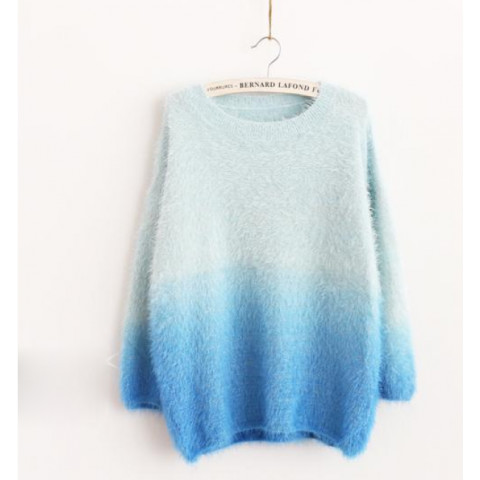 Metallic Ombré Shaggy Soft Knit Sweater Free Shipping | Keep.com
