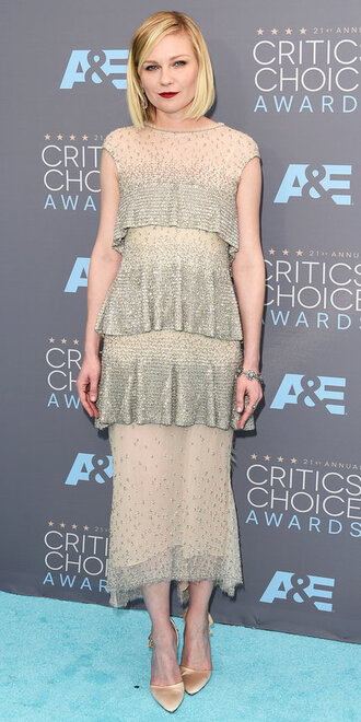dress midi dress kirsten dunst embroidered embellished dress sparkly dress