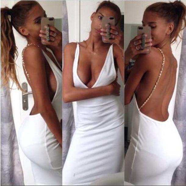 dress white dress v dress