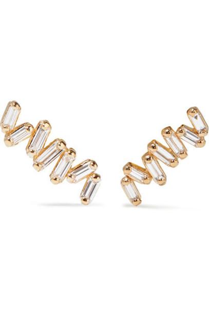 Suzanne Kalan - 18-karat Gold Diamond Earrings
